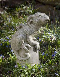 """Puddles"" the Dragon - Concrete Statue"