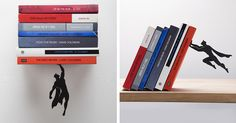 Superhero Bookends That Save Books From Falling Down |