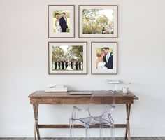 Framed Collections, Photo collage, framing wedding photos, How to display photos