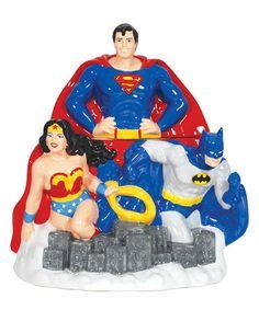 Look at this #zulilyfind! DC Comics Super Heroes Cookie Jar #zulilyfinds
