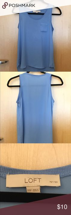 Sleeveless blouse Flowly sleeveless blouse. Can be paired with jeans, worn alone, with cardigans etc. Worn a few times. LOFT Tops Blouses