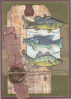 Tim Holtz inspired tag/card - fish