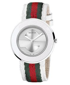 e72ef2217eb Gucci Women s YA133504 Interlocking Round Strap Watch