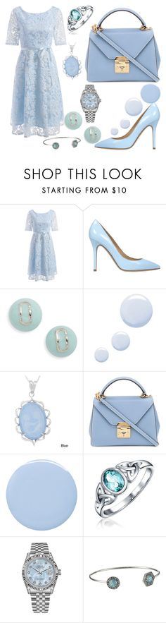 """Pastel Blue!"" by qwertyuiop-sparta ❤ liked on Polyvore featuring Semilla, Marc Jacobs, Topshop, Kabella Jewelry, Mark Cross, Deborah Lippmann, Bling Jewelry, Rolex and Rebecca Minkoff"