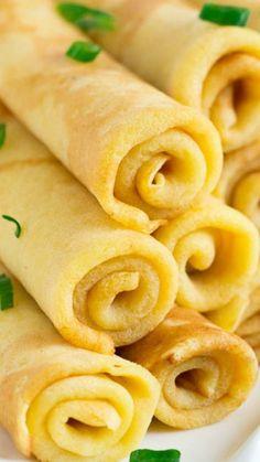 Savory Cheese Crepes ~ Delicate and savory, these cheese crepes, made with extra sharp cheddar cheese, will be your favorite alternative to sweet crepes.