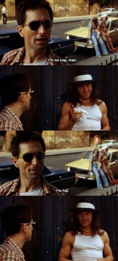Robert DeNiro as Travis Bickle and Harvey Keitel as Sport, Taxi Driver (1976)
