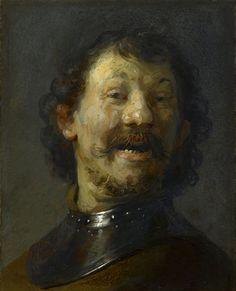 'Hombre riendo' (1629.1630), de Rembrandt.