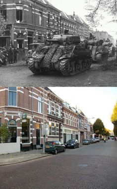 The Liberation of Arnhem - Stunning Then And Now Pictures Of A Battered City Then And Now Pictures, Operation Market Garden, War Photography, D Day, Second World, World History, Military History, World War Two, Historical Photos