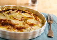 """Scalloped Potatoes - American Diabetes Association® - Potato dishes are a common holiday item. Serve this creamy potato side at your holiday dinner. No one will even know it's a """"healthy"""" version of scalloped potatoes!"""