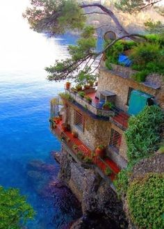 Cinque Terre, Italy -  Over the centuries, people have carefully built terraces on the rugged, steep landscape right up to the cliffs that overlook the sea. Part of its charm is the lack of visible corporate development. Paths, trains and boats connect the villages, and cars cannot reach them from the outside. The Cinque Terre area is a very popular tourist destination.