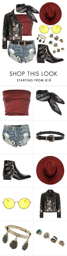 """""""Coachella Outfit"""" by my-fashiondiary ❤ liked on Polyvore featuring Romeo Gigli, DKNY, OneTeaspoon, Magda Butrym, Toga, Ray-Ban, Topshop, Miss Selfridge, coachella and polyvorecommunity"""