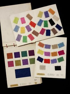 Textile swatch cards | Ascher Ltd | V&A Search the Collections