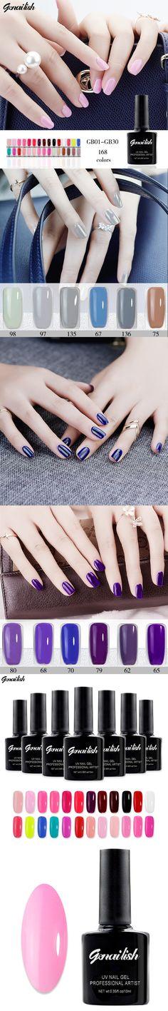 168 Colors Nail Gel Nail Polish UV Gel Polish Long-lasting Soak-off LED UV Gel 10ml/Pcs Nail Art Tools genailish-GB11