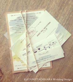 Autumn Wedding Invitation by AYANO TACHIHARA Wedding Design