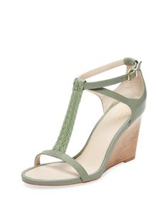 08545dbdb999 Kite T-Strap Leather Wedge by Seychelles at Gilt Green Heeled Sandals