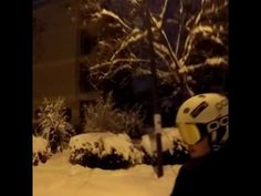 Night car skiing in the city!