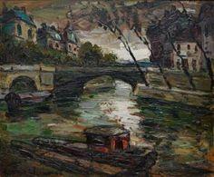 #VAGH #WEINMAN #Elemer, 1906-1990  Bridge over the Seine in #Paris  Oil on canvas, signed lower left
