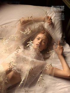 Julia Hafstrom by Camilla Akrans for Vogue China, May 2014