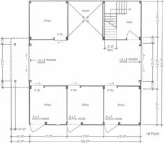 Horse Barn Floor Plans Stall As Feed Hay Room