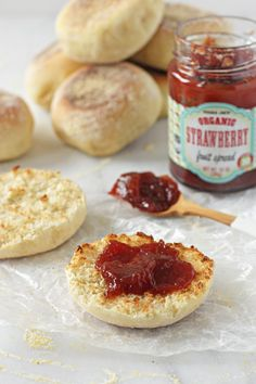 Recipe for homemade english muffins that taste much better than their store-bought counterpart. Perfect for toasting or for an egg and cheese sandwich.