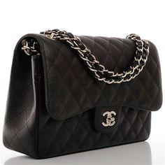 Chanel Jumbo Caviar double Flap bag - Timpanys Dress Agency - 1