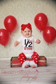1000 images about 1 2 birthday photos on pinterest half for 6 month birthday decorations