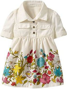 Gingham-Print Shirtdresses for Baby | Old Navy Love this style. Really want to make similar for Easter. You can't see it but the sleeves have tabs.