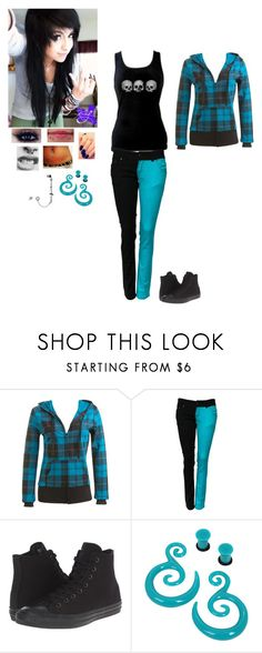 """""""Untitled 55"""" by dreadful-glassheart ❤ liked on Polyvore featuring Wet Seal, Converse and Hot Topic"""