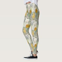 French Tulip Flowers Art All Over Print Leggings - flower print gifts floral idea giftideas