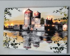 valokuvakehykseen. 3d Painting, Diy And Crafts, Mansions, Canvas, House Styles, Drawings, Home Decor, Album, Mansion Houses