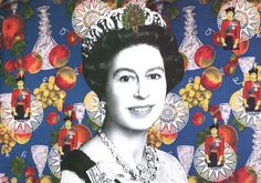 Afsoon, The Queen, collage et impression sur papier, edition de 8, 2011, 42x61cm © Galerie Nicolas Hugo