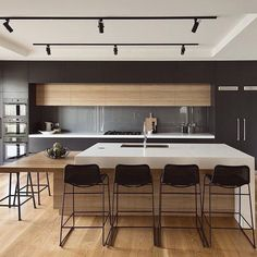 What would the kitchen space of your goals resemble if loan were no object? Our team discuss a number of our much-loved luxury kitchen design tips to influence you If loan were no item, what would … Home Decor Kitchen, Kitchen Living, Kitchen And Bath, New Kitchen, Kitchen Ideas, Kitchen Wood, Kitchen Cabinets, Kitchen Layout, Kitchen Industrial