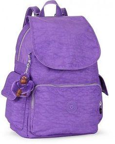 Kipling City Pack B Backpack Vivid Purple BNWT RRP £74