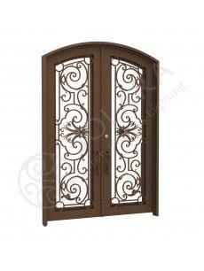 Brittany Iron Door Double Eyebrow Render