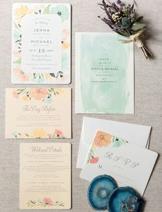 Rustic + Boho Wedding with a Sweet Southern Backdrop Make Your Own Wedding Invitations, Cricut Wedding Invitations, Unique Invitations, Invitation Paper, Floral Invitation, Wedding Stationary, Invitation Wording, Invite, Wedding Paper