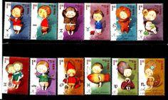 Ukraine  2008 Michel cat. #924-35 SIGNS of ZODIAC set 12 stamps MNH Cat. 9.00EU