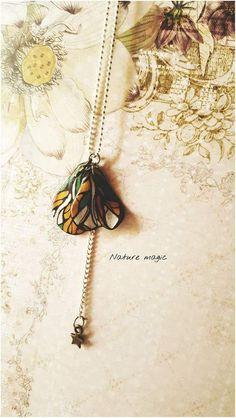 collier Papillon douceur nature. bijoux . : Collier par au-jardin-d-eden-creations