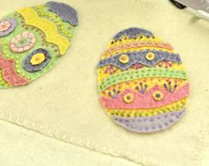 eggs made of felt.   Inspiration
