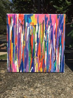 A personal favorite from my Etsy shop https://www.etsy.com/listing/477972751/drip-painting-made-to-order-abstract-art