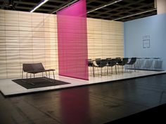 Acoustic Ply wall at Orgatec Acoustic Wall, Wall Design, Showroom, Walls, Fashion Showroom