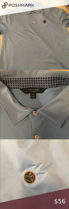 Masters men's golf shirt BOBBY JONES COLLECTION Masters men's golf polo, LIKE NEW, Bobby Jones Collection, light blue Masters Collection Shirts Polos
