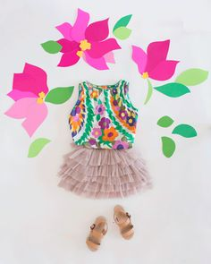Dressing the Babe / Mama and Me Style. Ruby is wearing #zuzii sandals.