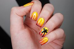 Nailpolis Museum of Nail Art | Sunset by Natalie Grech