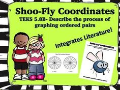 """Students will love this activity! What better way to teach math but to use literature and hands-on practice! Students will read the book """"A Fly on the Ceiling"""" by Julie Glass.  You can choose to read the book as a group or you can access the youtube link of a free read aloud of the book."""