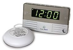 Sonic Alert Sonic Boom SB200SS Extra Loud Travel & Bedside Vibrating Bed Shaker Alarm Clock with 120/220V Switch