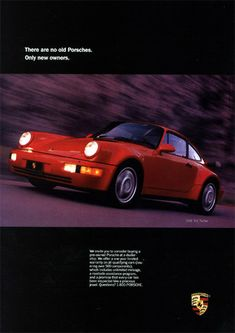 Porsche ad (used, 911 Turbo)