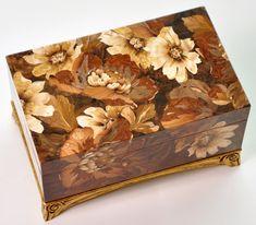 "Art studio ""Ochakovskih"" offers world class interior design and marquetry services. Wooden Jewelry Boxes, Jewellery Boxes, Gold Jewellery, Wood Box Design, Wood Mosaic, Big Jewelry, Wood Veneer, Wood Boxes, Wood Paneling"