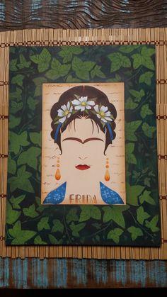 Enlouqueci quando vi este stencil da Frida Khalo