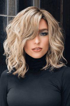 Medium Thin Hair, Short Thin Hair, Medium Hair Styles, Curly Hair Styles, Natural Hair Styles, Medium Curls, Natural Wigs, Thick Hair, Short Blonde