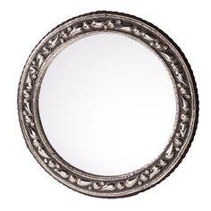 20-inch Round Mediterranean Mirror Handmade in Morocco